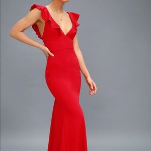 Lulus Perfect Opportunity Red Maxi Dress